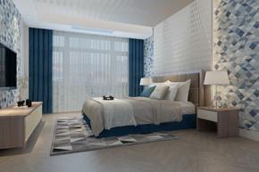 现代风格清新卧室效果图
