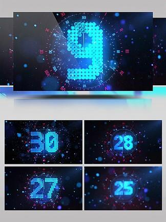 4K新年30秒倒计时背景视频素材