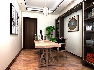 室内空间设计<i>书</i>房<i>效</i><i>果</i><i>图</i>