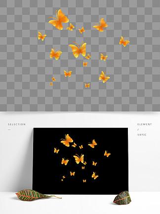 漂浮的蝴蝶漂浮的金黄色蝴蝶飞舞的蝴蝶
