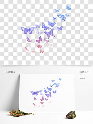 漂浮蝴蝶装饰图案素材底纹通用背景