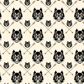 狼头 文字图片