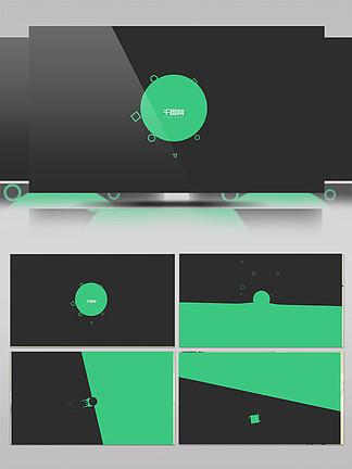 卡通图形标志小动画AE模板