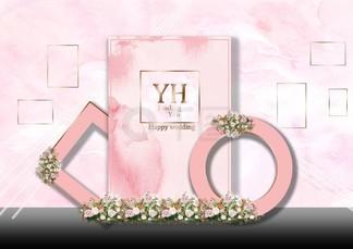粉色婚礼<i>效</i><i>果</i><i>图</i><i>照</i><i>片</i><i>墙</i>