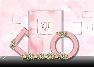 粉色婚禮<i>效</i><i>果</i><i>圖</i><i>照</i><i>片</i><i>墻</i>