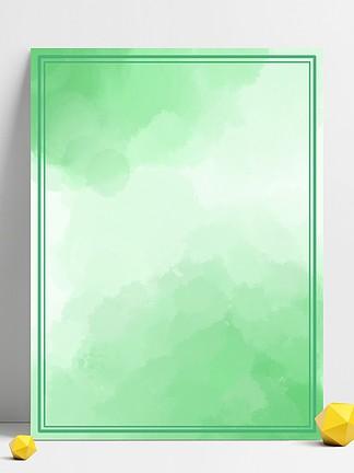 绿色渐变水彩水墨效果背景