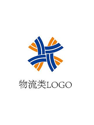 物流类运输道路四通八达logo