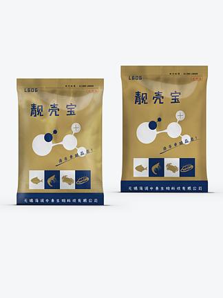 个性土豪金药品产品包装袋设计
