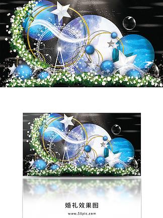 蓝色梦幻婚礼效果图