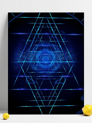 原创科技与光线三角形光线背景素材