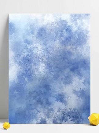 蓝色系渐变泼墨水彩质感<i>背</i><i>景</i>