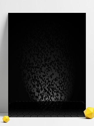 原创黑色科技六边形光线流体黑色背景素材