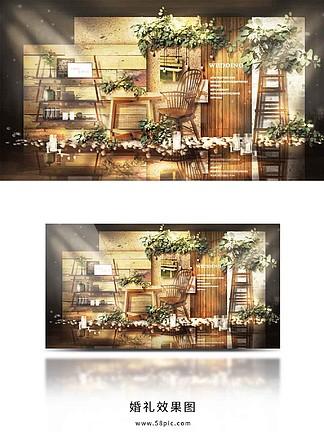 簡約森系婚禮合影區<i>效</i><i>果</i><i>圖</i>