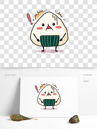 寿司食物卡通可爱表情日式矢量