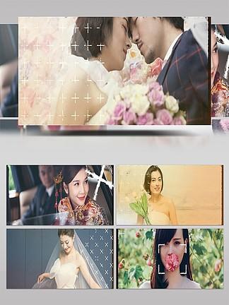 復古風相機膠卷婚禮圖像展示AE模板