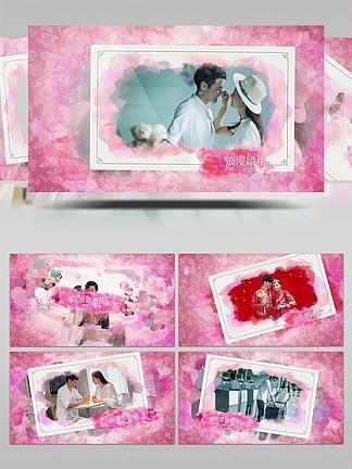 甜蜜浪漫婚礼相册展示AE模板