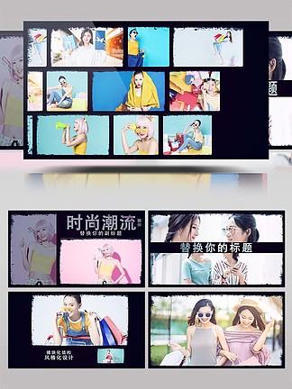 时尚动感标题图文展示AE模板