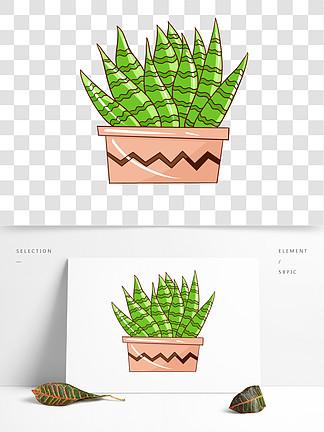 手绘植物花草卡通仙人掌