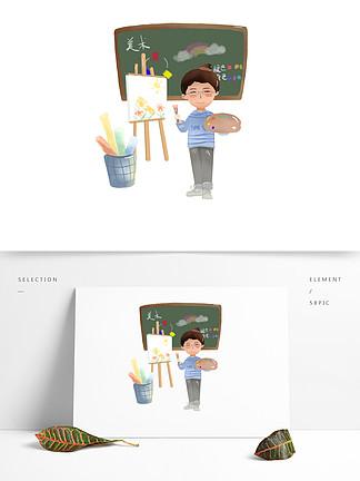 卡通美术课堂元素设计可商用