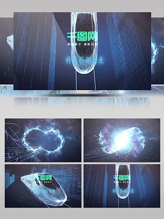震撼大气光效粒子标志LOGO展示AE模版