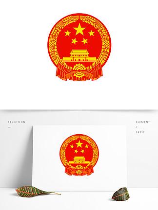 国徽天安门中国徽章矢量可商用元素