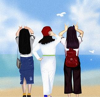 原創小姐妹海邊旅行記憶