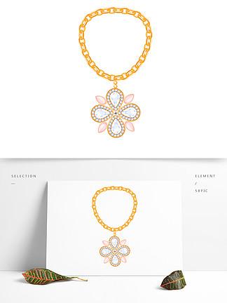 首饰珠宝项链钻石ai矢量宝石