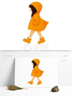 唯美黄衣服的女孩人物设计
