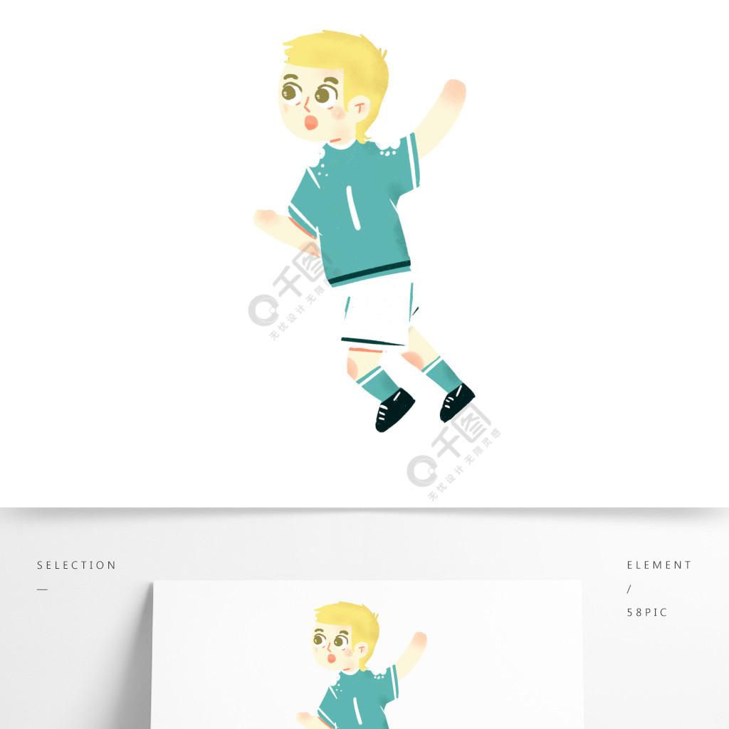 卡通可爱运动小男孩png素材