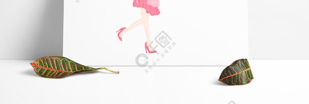 卡通手绘做饭的时尚女孩免抠元素