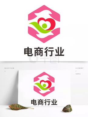 e扩散简约电商logo设计