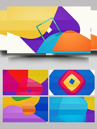 彩色MG动画图形切换转场背景AE模板