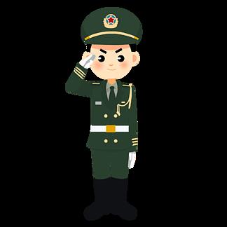 卡通<i>军</i>人<i>建</i><i>军</i><i>节</i>素材