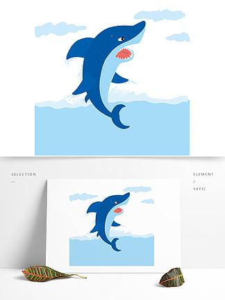 深蓝鲨鱼图片素材