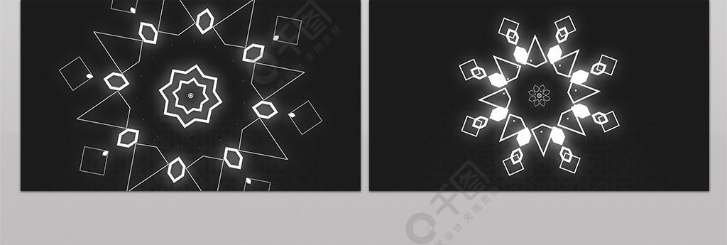 简洁万花筒图形运动片头展示AE模板
