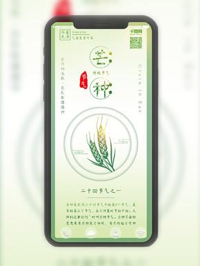 原创小清新芒种节气农作物背景配图
