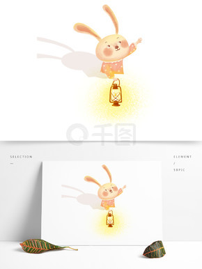 可爱呆萌小兔子手提灯