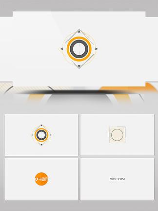 简约扁平化图形动画logo片头AE模板