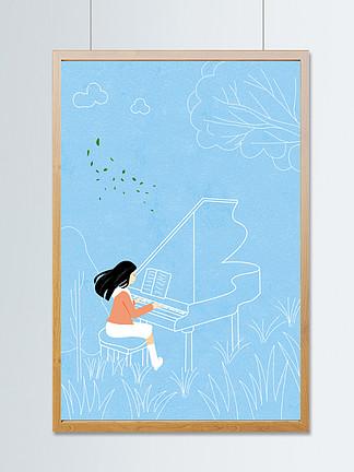 虚实象生之钢琴女孩