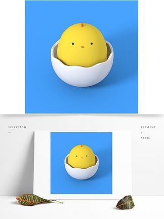 小黄鸡C4D模型
