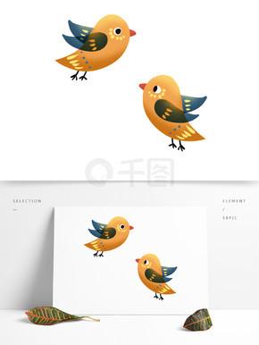可爱呆萌黄色小鸟