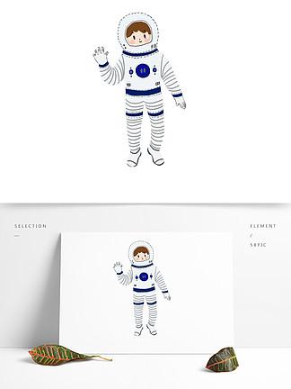 世界航天日航空宇航员人物装饰图案