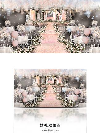 粉色婚礼唯美效果图