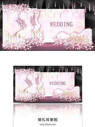 温馨浪漫唯美粉色粉金主题婚礼
