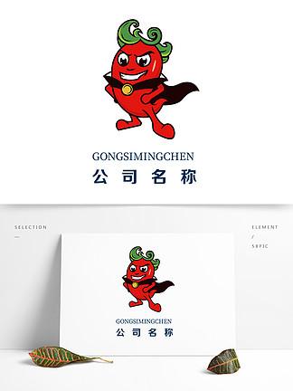 辣椒餐饮吉祥物标志