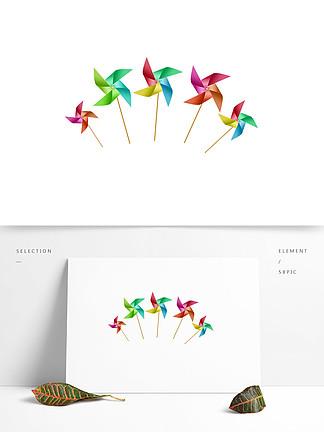儿童节纸风筝卡通装饰元素