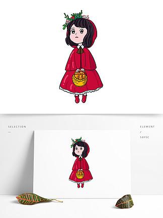 AI鼠绘原创可爱小红帽