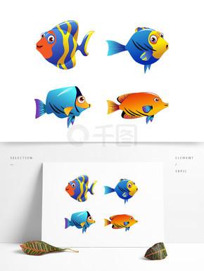 游戏卡通鱼免扣素材