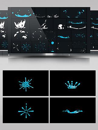 卡通mg水流动画AE模板