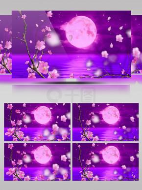 粉色梦幻?#19968;?#22278;月节目舞台背景